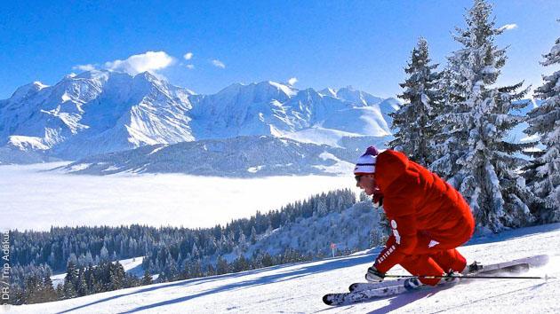 sejour ski hors piste à Combloux et megeve