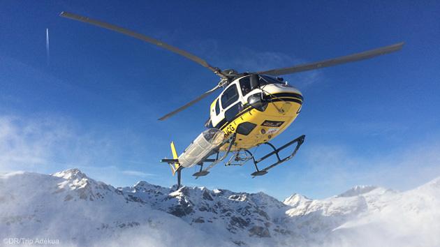 Dépose en héliski pendant votre séjour à Val d'Isère en Savoie
