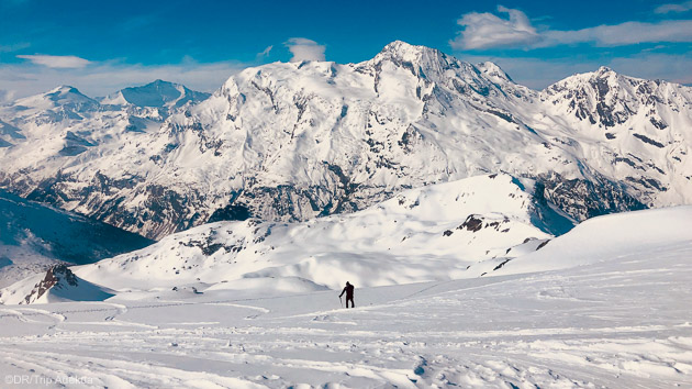 Découvrez les plus beaux itinéraires ski freeride de la Haute Tarentaise
