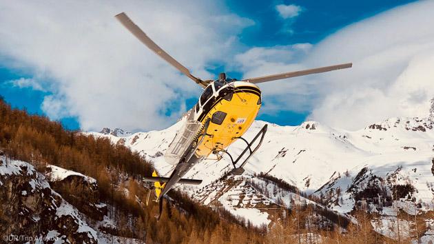 testez l'hésliski pendant votre séjour hors-piste à Val d'Isère