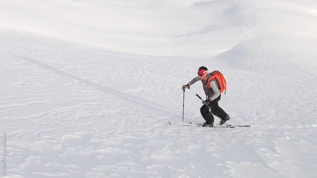 Rejoignez votre refuge en ski  hors piste sur les pentes du massif de la Vanoise