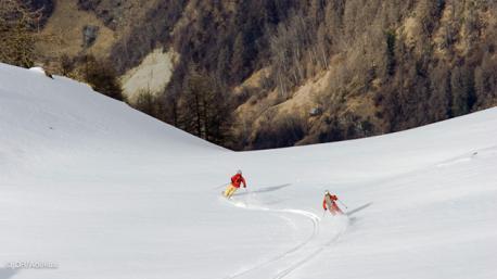 sejour ski freeride à Nax en Suisse