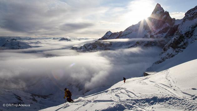 Paysages magnifiques pour votre séjour ski freeride à la Grave, La Meije (Alpes)