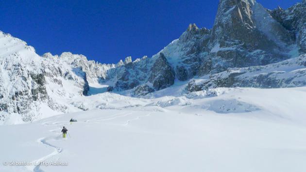 itinéraire de ski freeride hors piste à Chamonix