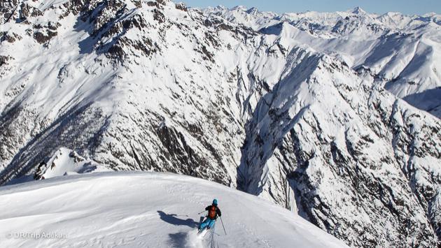 Séjour sportif de ski freeride sur le domaine des vallons de la Meije, la Grave